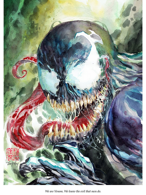 Venom - Standard Watercolor Print