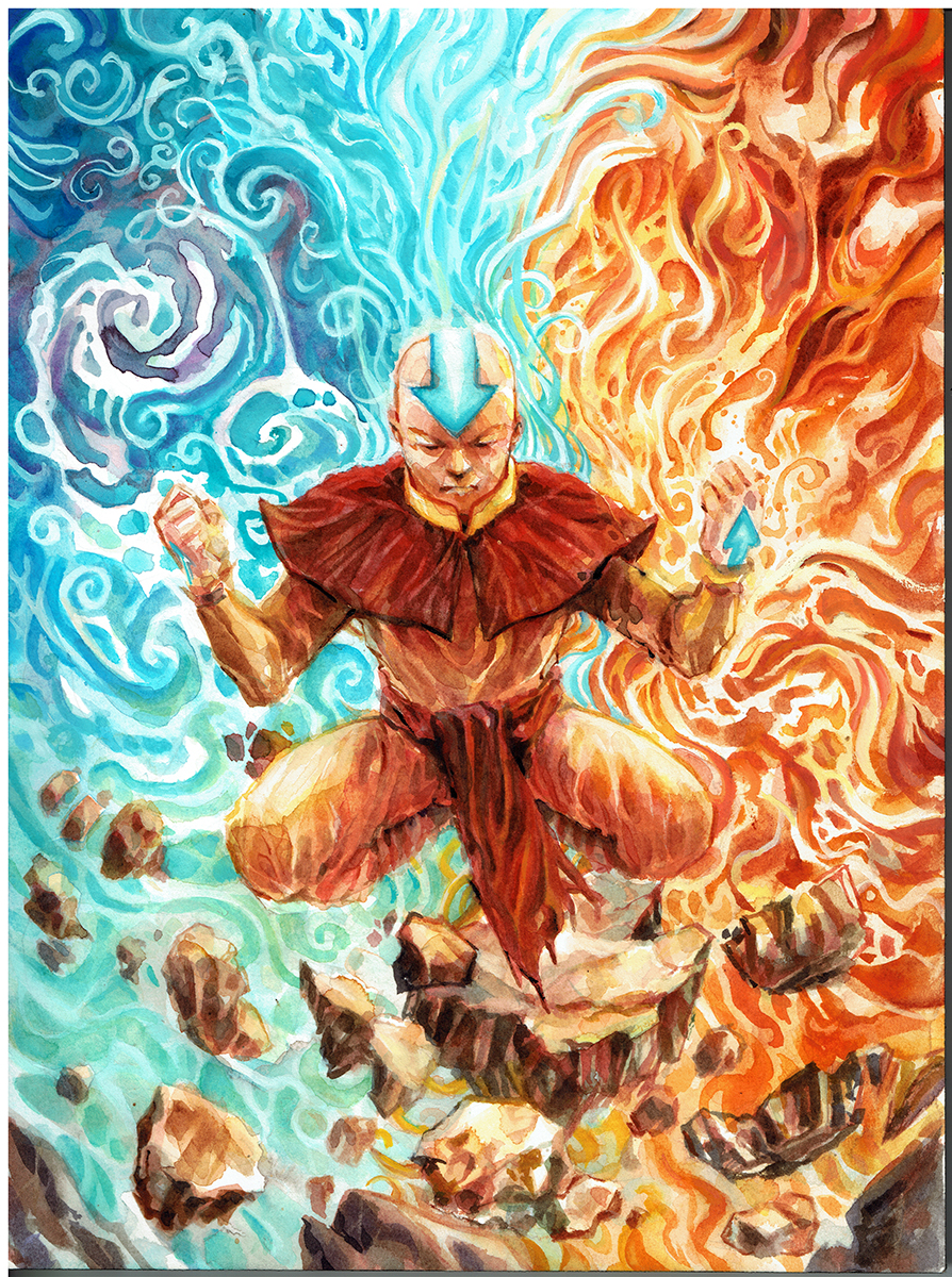 Avatar the Last Airbender Watercolor Art