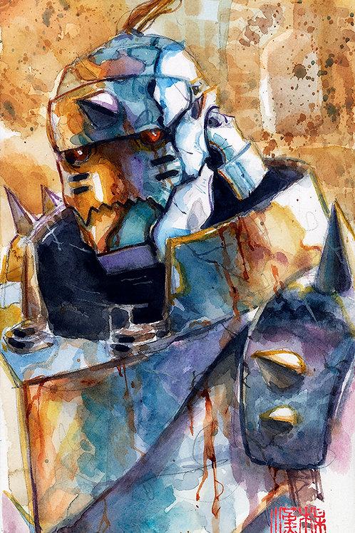 Artober 2020 - Armor- Original Watercolor - Alphonse
