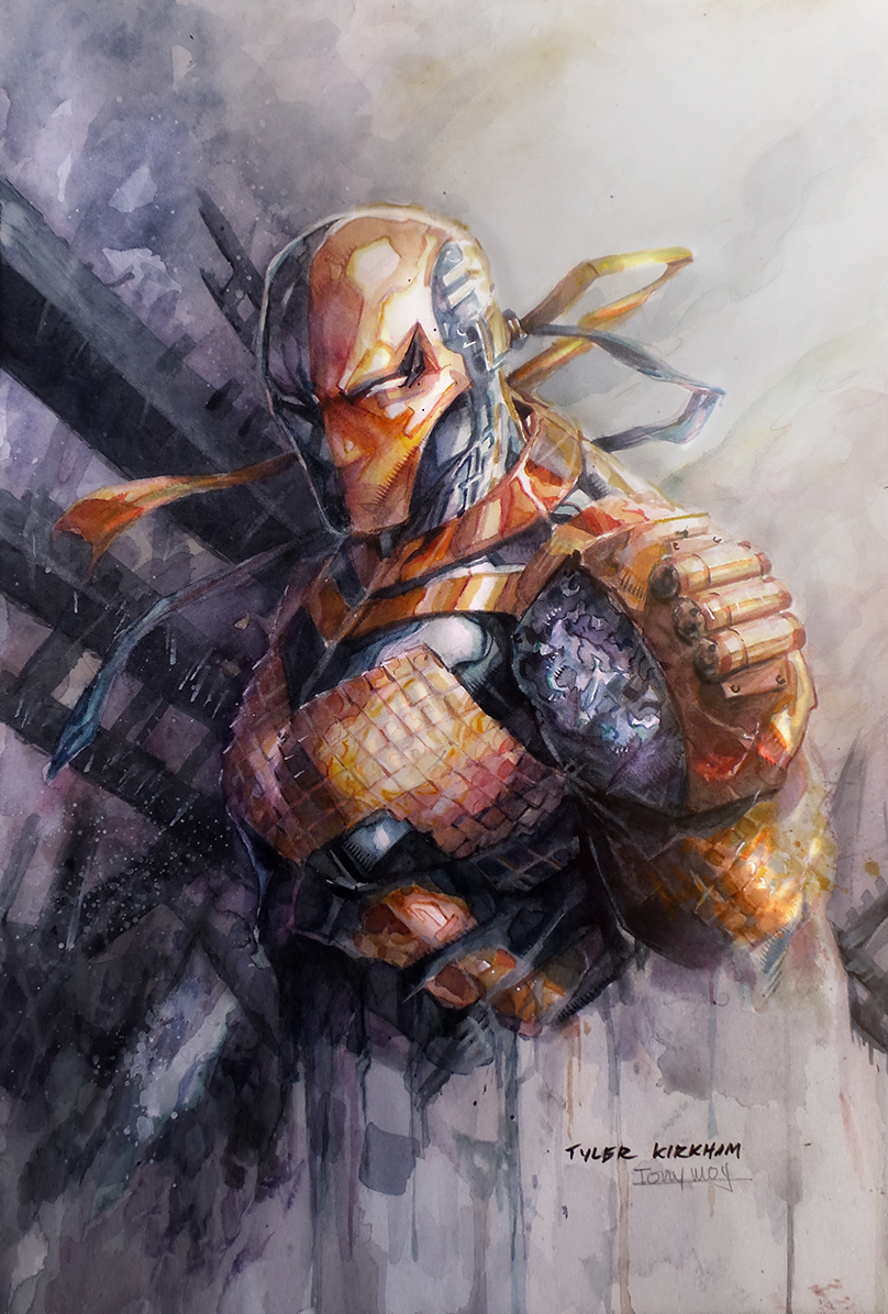 Deathstroke Watercolor