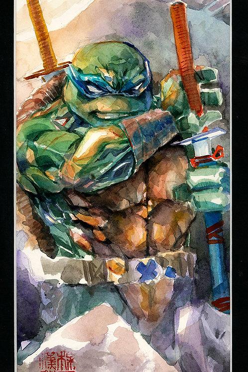 Leonardo Prepared - TMNT - Original Watercolor Art