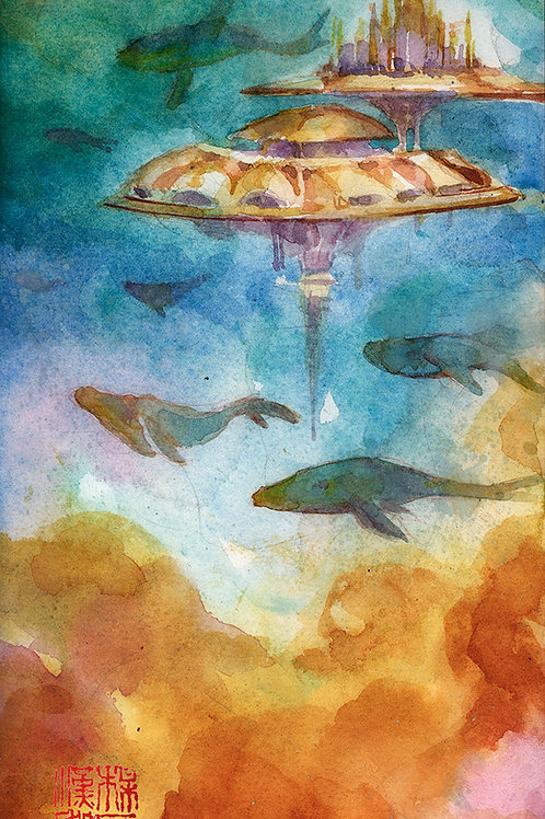 Artober 2020 - Celestial - Original Watercolor