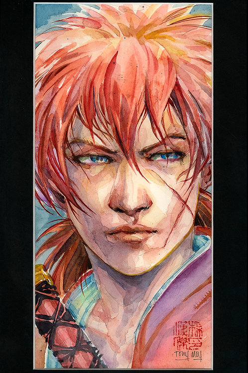 Ruronin Kenshin - Samurai X - Original Watercolor Art