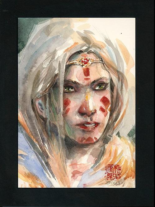 Indigenous- Original Watercolor Art