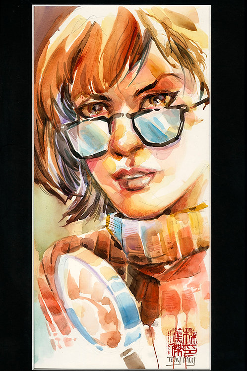 Velma Super Slueth - Scooby Doo - Original Watercolor Art