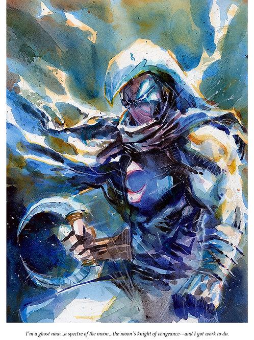 Moon Knight - Standard Watercolor Print