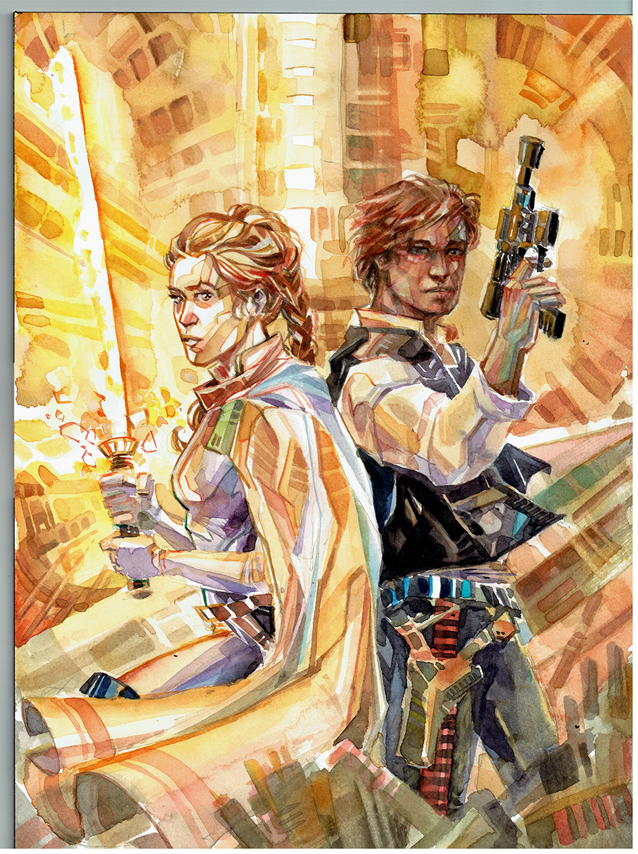 Star Wars - Leia and Han Solo