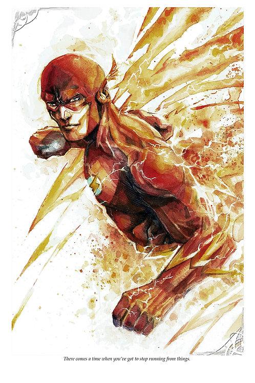 Flash - Scarlet Speedster - Standard Watercolor Print