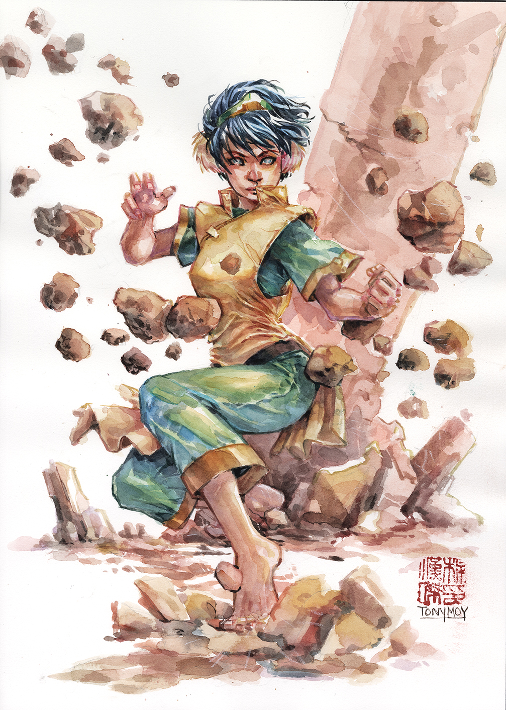Toph watercolor from Avatar