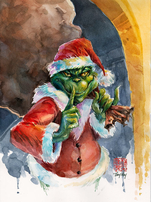 The Grinchiest -Standard Watercolor Print