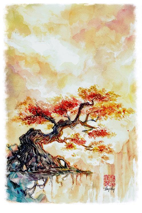 The Resolute Elder - Watercolor Rice Paper Print