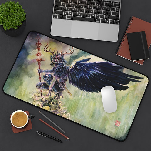 Death Angel of Yorn - Watercolor Desk Mat / Mouse pad / Play Mat