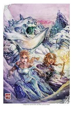 Frozen - Elsa, Anna and snowball