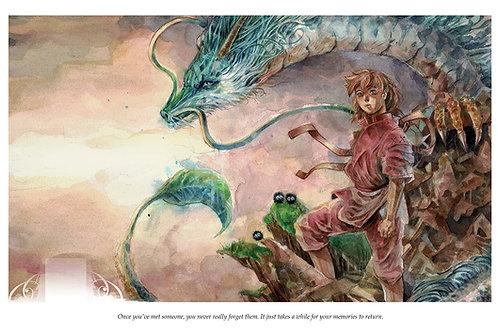 Spirited Away - Standard Watercolor Print