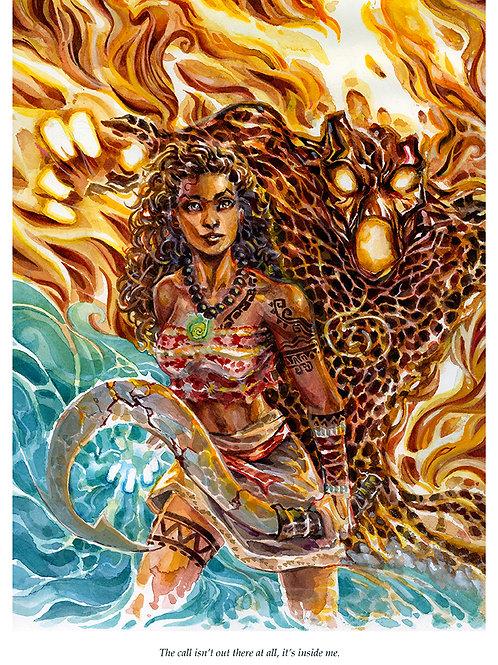 Moana - Maui's Apprentice - Standard Watercolor Print