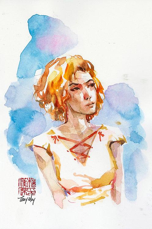 Pensive - Original Watercolor Art