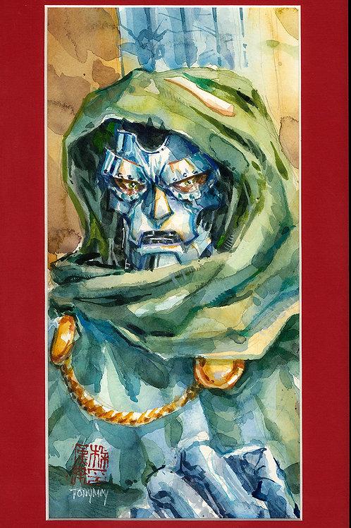 Dr. Doom - Original Watercolor Art