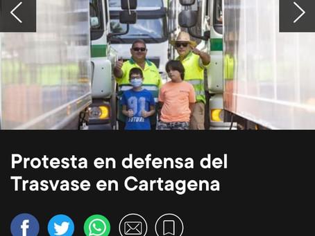 Los regantes del Campo de Cartagena acuerdan un paro agrario este lunes en defensa del Trasvase