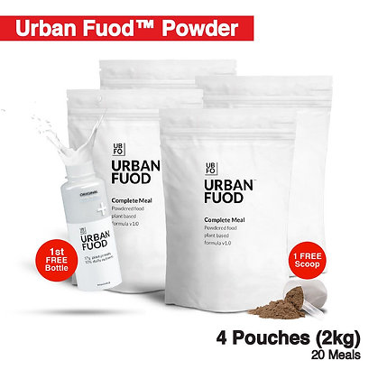 4 Pouches (2kg) + FREE Bottle (Key-in Promo Code at Checkout for FREE)