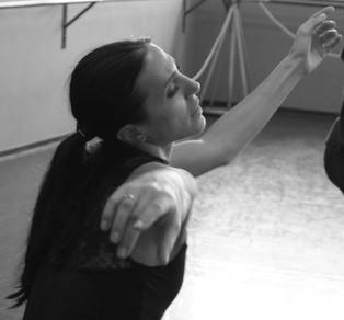 Maria Kousouni rehearsing Bolero. Photo by Agapios Agapiadis.