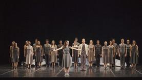 Maria Kousouni during the bow of Giocconda's smile premiere. Greek National Opera Chor.Aggeliki Stellatou