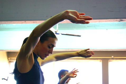 Maria Kousouni rehearsing Bolero. Photo by Agapios Agapiadis