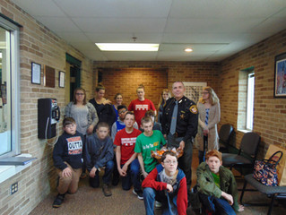 Eastern Students Visit Sheriff's Office