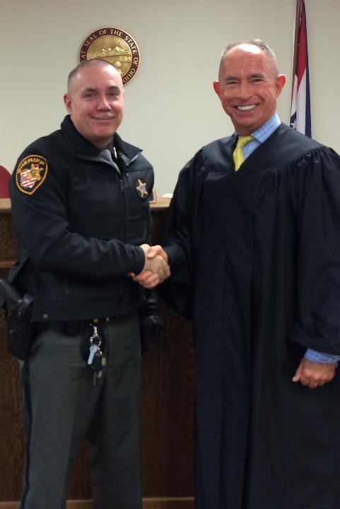 Sheriff Gordon Ellis and Juvenile Court Judge Danny Bubp