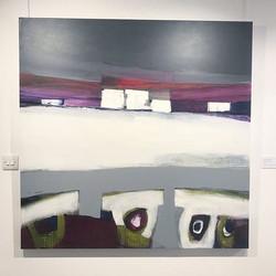 Masoumeh Abirinia, Abstract Scenery (2008) 130x130 cm