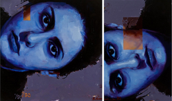 Diptych, oil on canvas (2011) 150x250cm