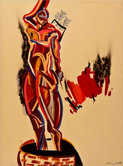 Acrylic on canvas (2008) 200x150 cm