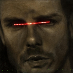 Clot Five (2010) Acrylic on canvas with LED, 100x100cm