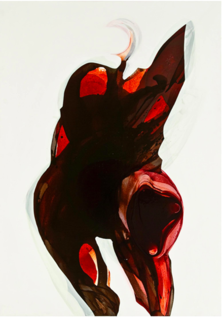 Ink and acrylic on canvas (2009) 170x120cm