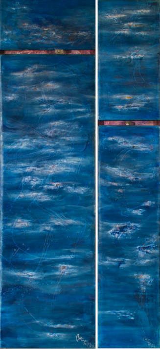 Diptych (1993) Oil on canvas, 206x96 cm