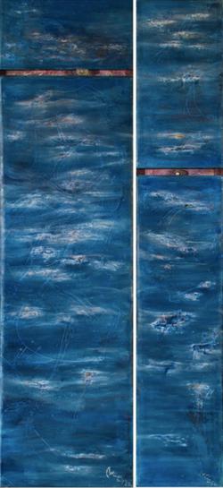 Diptych (1993) Oil on canvas, 206x96 cm