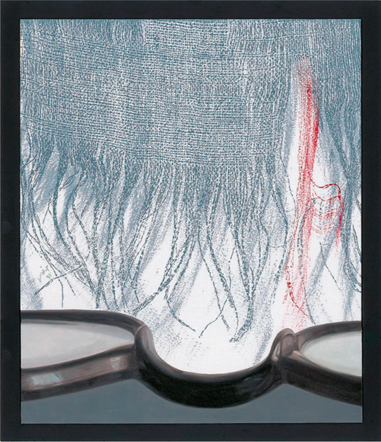 Untitled (2013) Oil and monoprint on cardboard, 37.3x32.5 cm