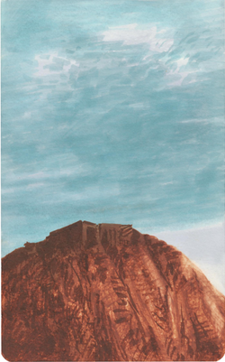 Untitled form the 'Landscapes' series (2013) Marker on watercolor paper, 21x13 cm