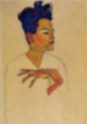 Egon-Schiele-Self-Portrait-with-Hands-on