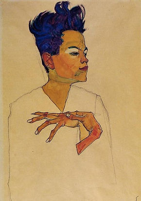 Egon-Schiele-Self-Portrait-with-Hands-on