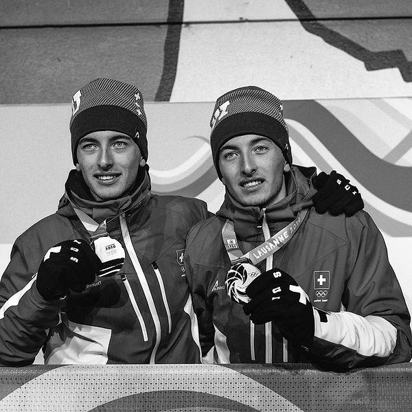 Thomas et Robin  Bussard (Suisse, ski al