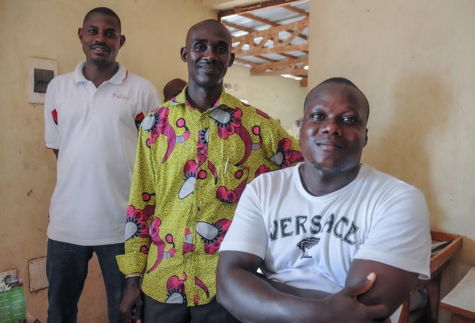 Arnaud N'guessan (à droite), directeur de la coopérative de Toullh, Côte d'Ivoire