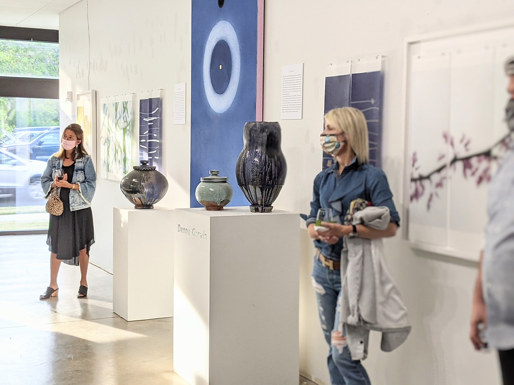 Visitors at the Sozo Gallery opening reception.