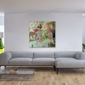 """""""Wine and Roses"""" shown in a living room."""