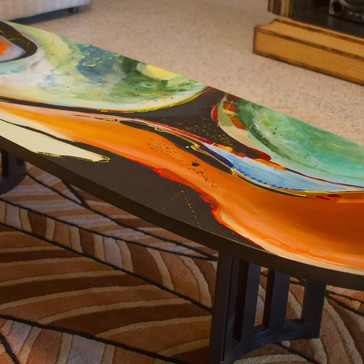 """Worlds Apart"" Mid-Century Modern Coffee Table"