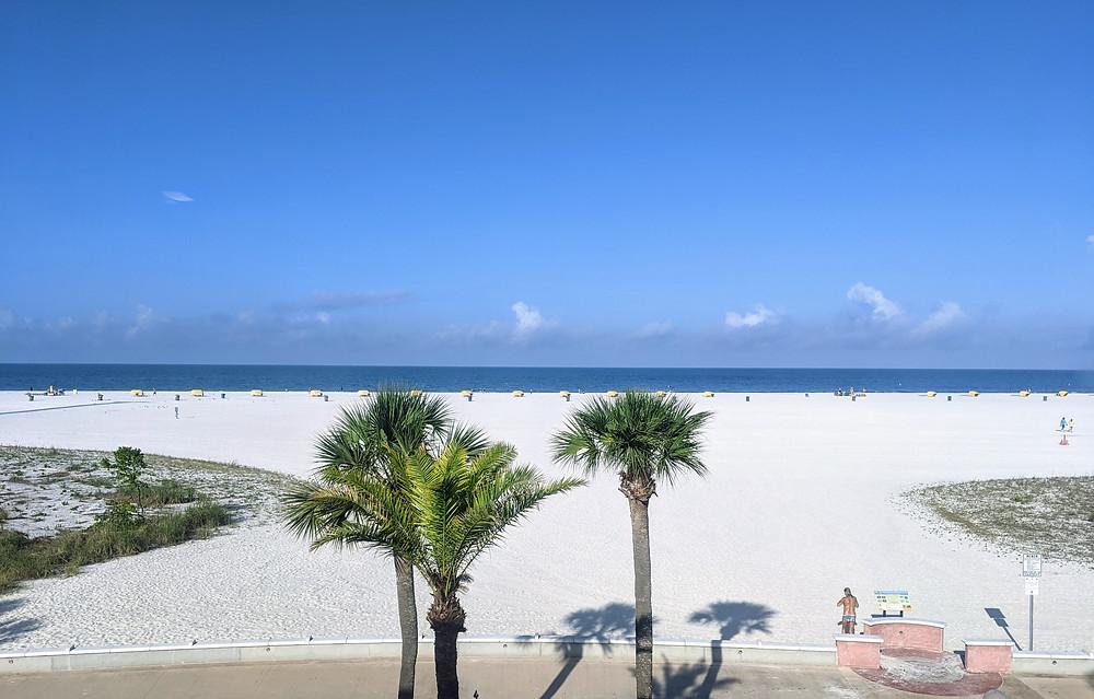 Beach and boardwalk on Treasure Island.