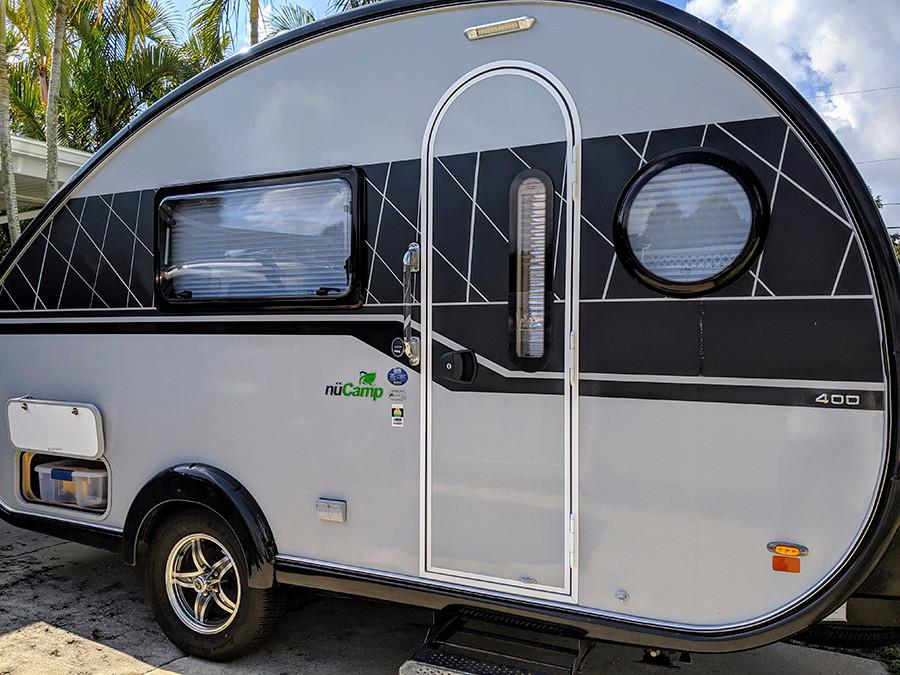 Our NuCamp teardrop pull-behind camper.