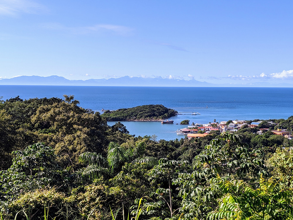 Mountain top overlook from Roatan. Photo by Rene Griffith.