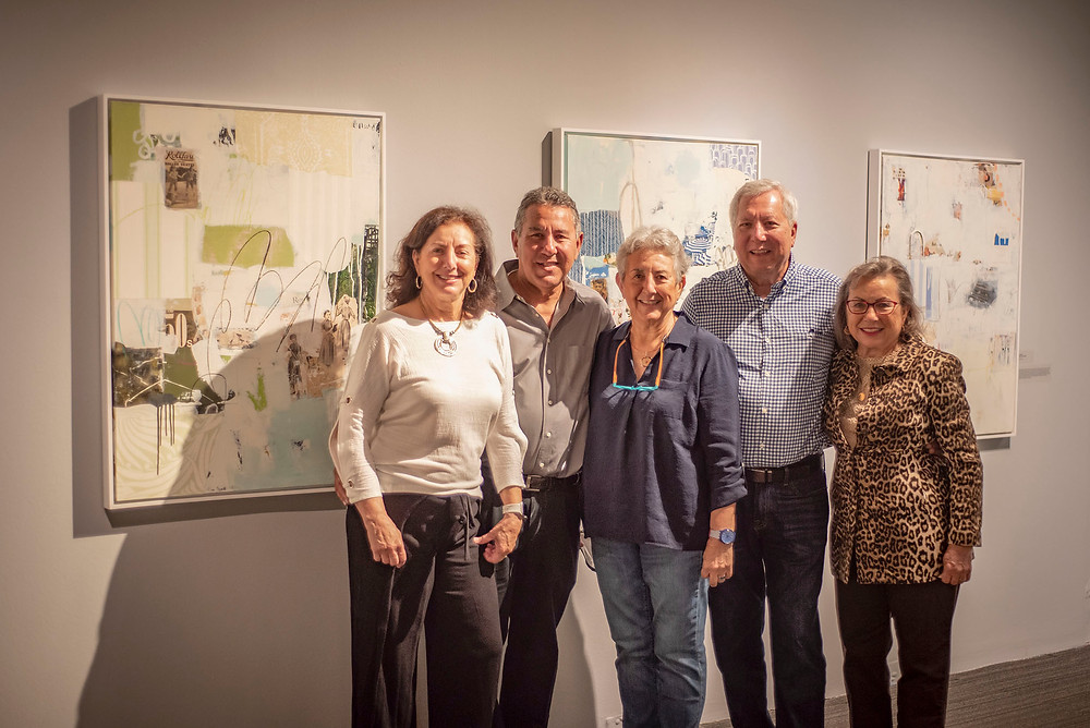"""My siblings and me at the Foosaner Art Museum opening of """"Abstraction: Retrospective Memories""""."""