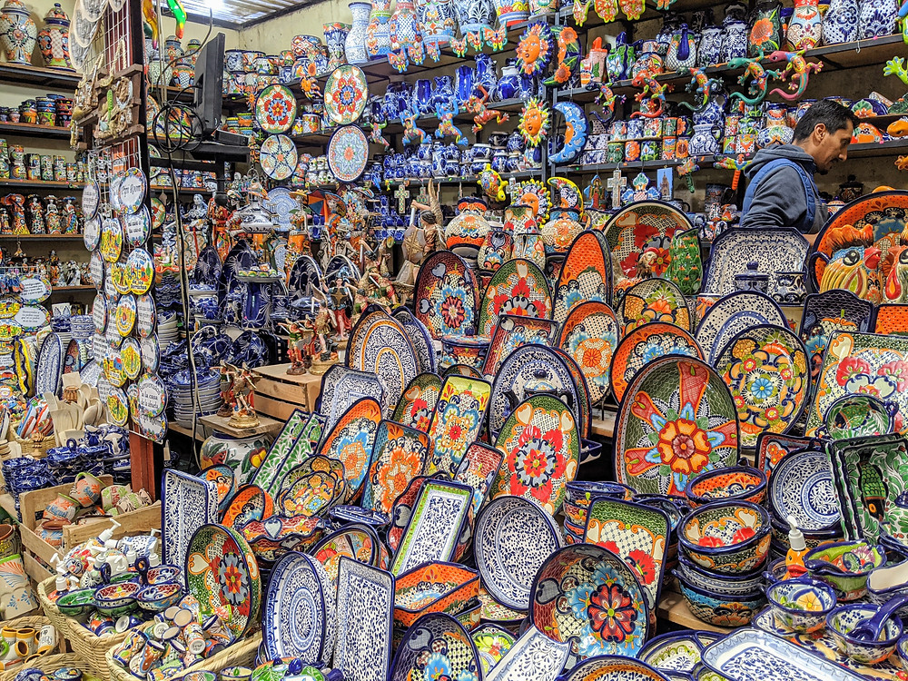 Many vendors throughout the city were selling wares made in Mexico. Photo by Rene Griffith.