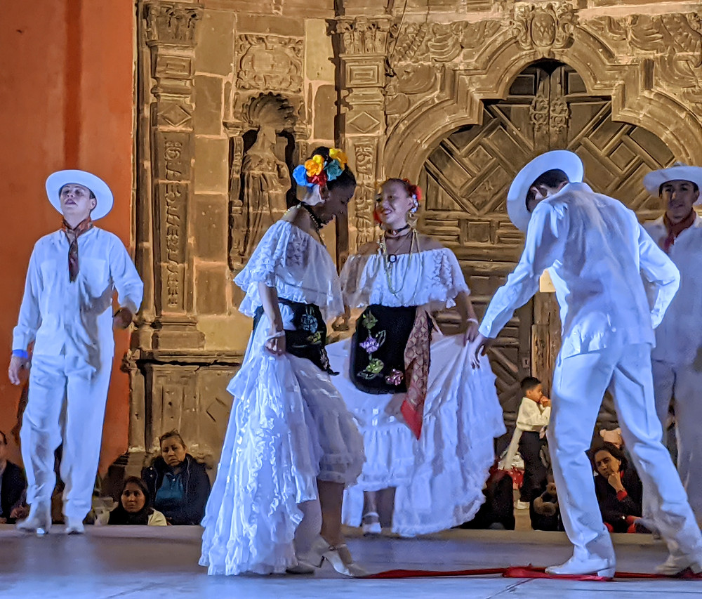 Mexican folk dancers from various provinces throughout Mexico travel to perform in San Miguel. Photo by Rene Griffith.